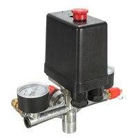 Non Adjustable 125psi 2 Phase Compressor Pressure Switch Air Valve Gauge Control Relief 230V 1 Port
