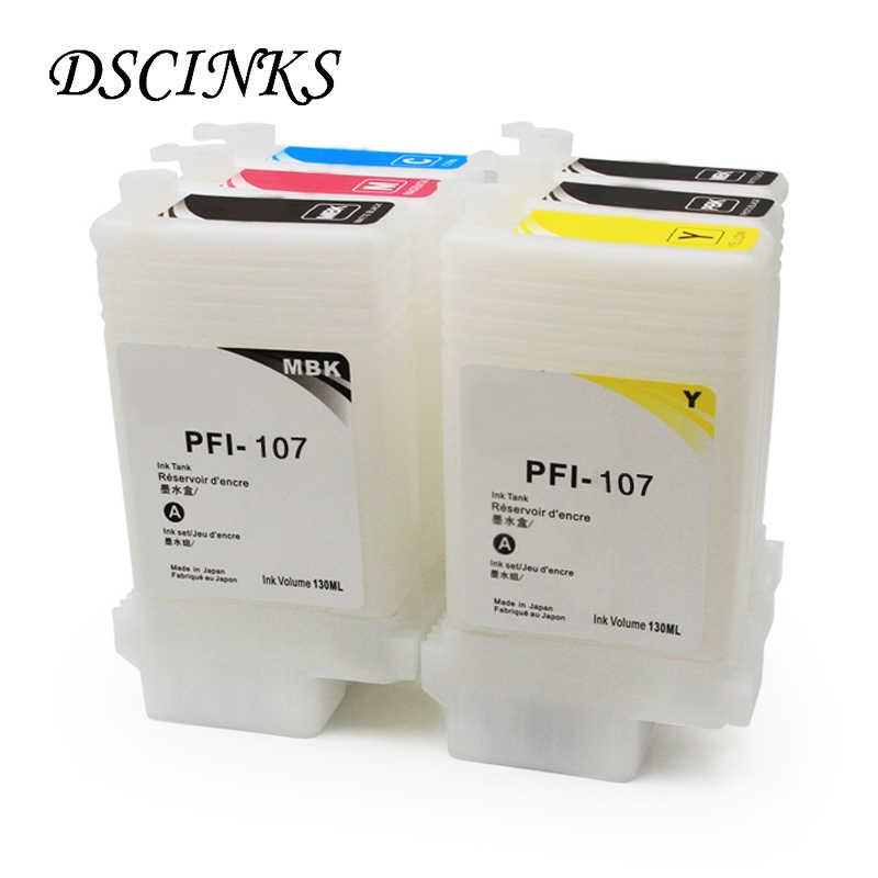 PFI-107 Isi Ulang Tinta untuk Canon IPF670 IPF680 IPF685 IPF770 IPF780 IPF785 IPF-670 IPF-770 IPF 670 770 PFI107 PFI 107