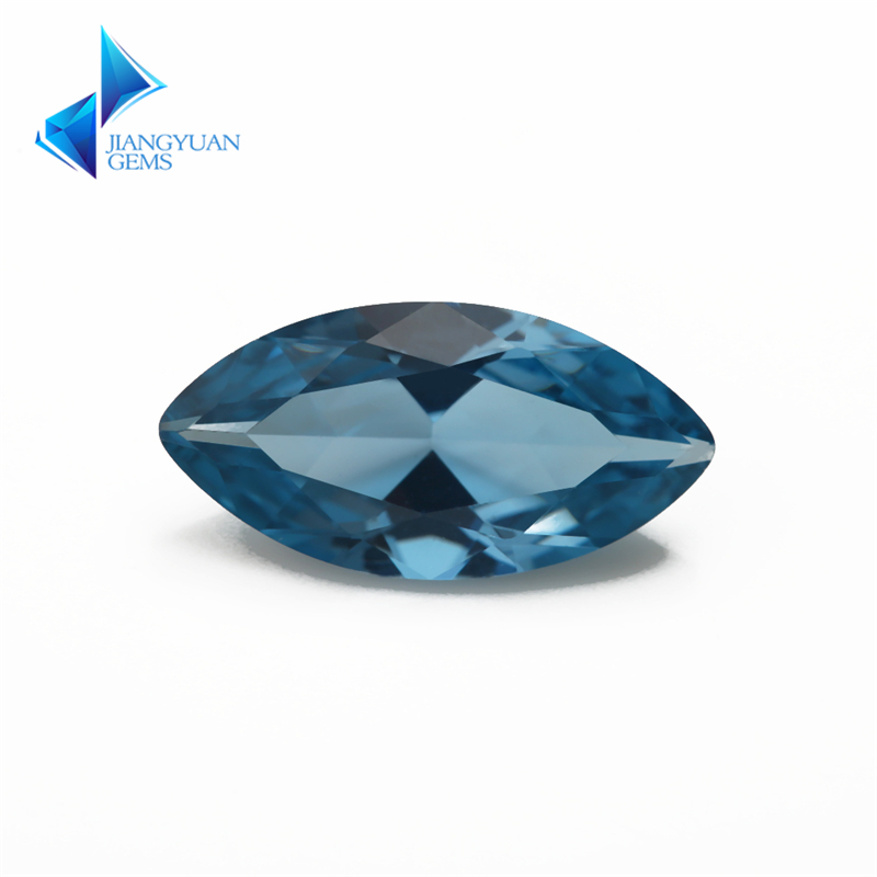 Size 3x6~8x16mm 120# Maquise Shape Brilliant Cut Synthetic Spinel Blue Stone For Jewelry