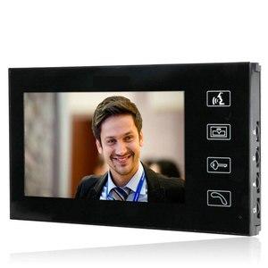 """Image 4 - Sistema de intercomunicación de vídeo para teléfono y puerta, 1 monitor, acceso con contraseña RFID, cámara de visión nocturna, cerradura eléctrica, tecla táctil de 7"""""""