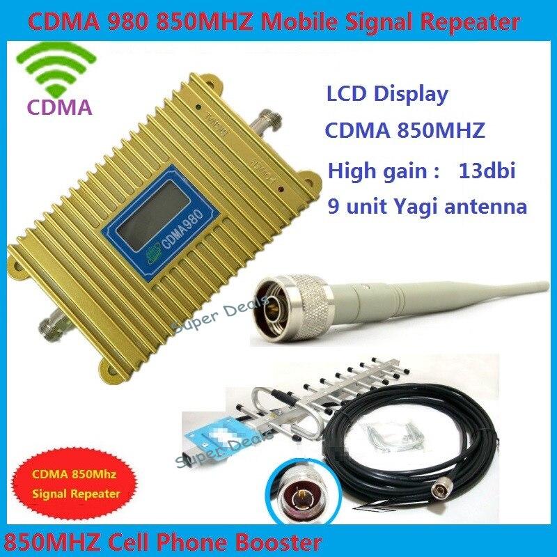LCD display CDMA 850Mhz Mobile Phone Signal Booster , Cell Phone Signal Repeater amplificador wifi repetidor de sinal de celular