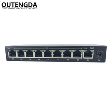 8port 10/100M VLAN POE Switch, 12~15V poe switch with 7 poe ports for wifi ap