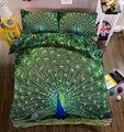 Morden 3D juego de ropa de cama niños adultos edredón juego de cubierta Rey reina doble tamaño hermoso Pavo Real decoración hogar Textiles Envío Directo
