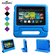 Youngsters Shockproof Case For Amazon Kindle Hearth DH eight 2016 Kids Protected Rugged Proof EVA Foam Pill PC Case Deal with Stand Cowl