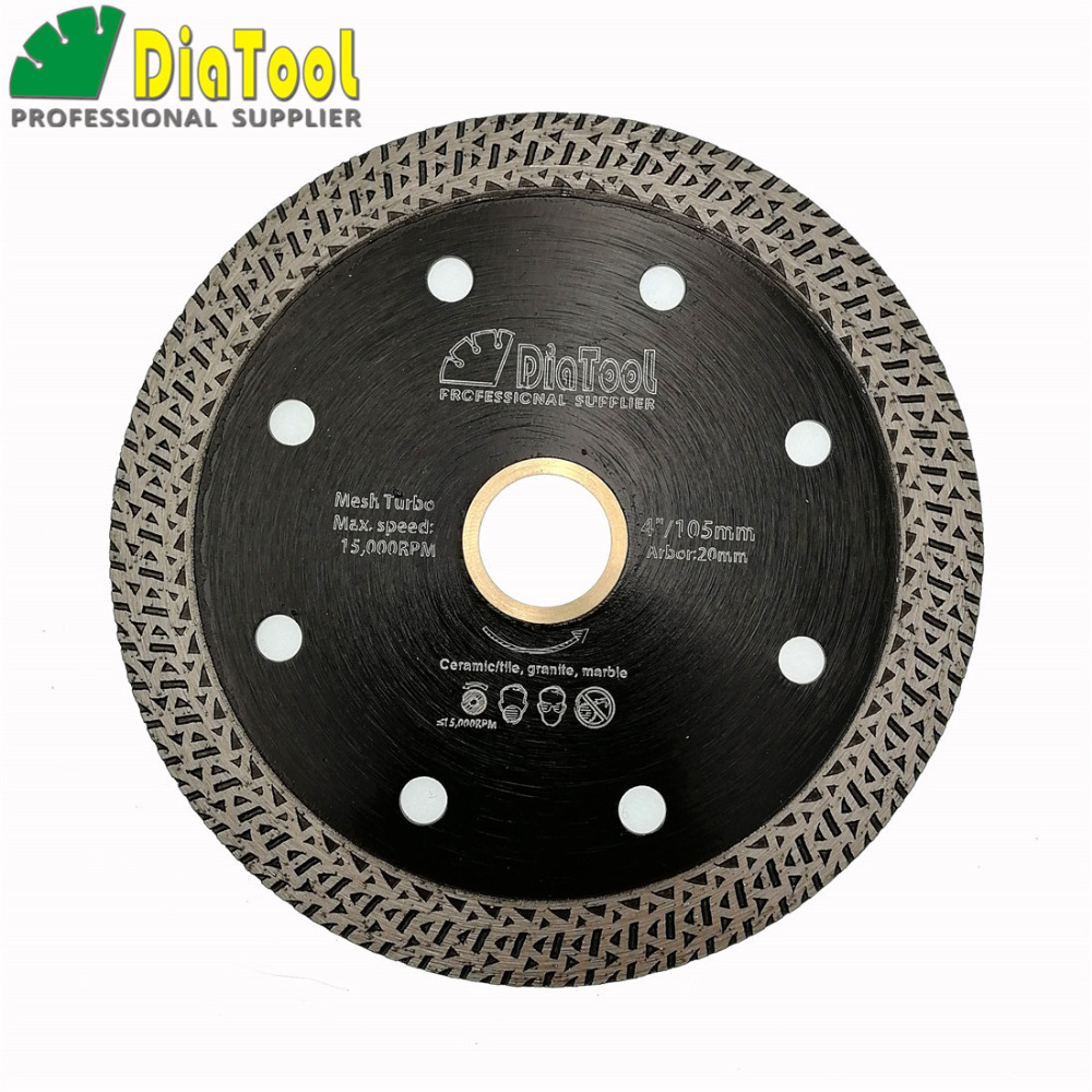 Dia4 or 4.5 or 5 Hot pressed sintered Mesh Turbo Diamond Saw blade Cutting Disc Diamond Wheel Bore 22.23MM with a 22.23-20mm