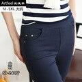 Grandes estaleiros mulheres casual calças Nove minutos de calças