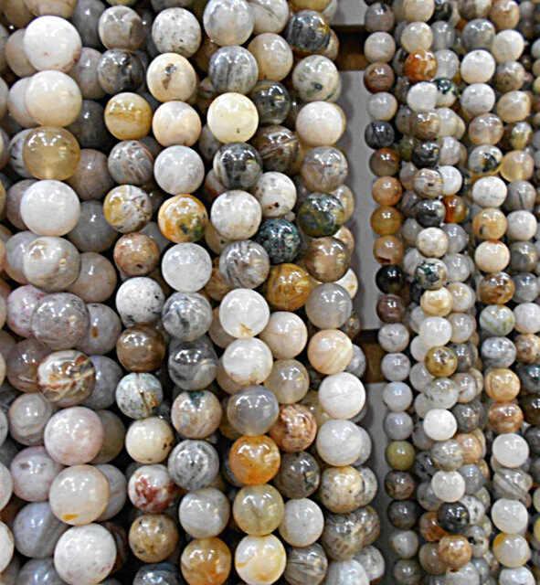 הודו טבעי אבן צמיד גברים הדפסה מרווחי loose חרוזים כדור פלצור שרשרת עגילי קסמי ים משקעים diy הרבה