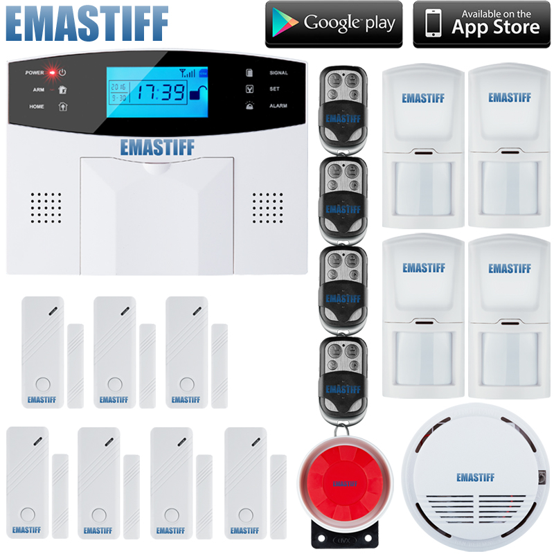 English Russian Spanish French Voice Wireless GSM Alarm system Home security Alarm systems with LCD Keyboard Sensor alarm 3 798 418 1961