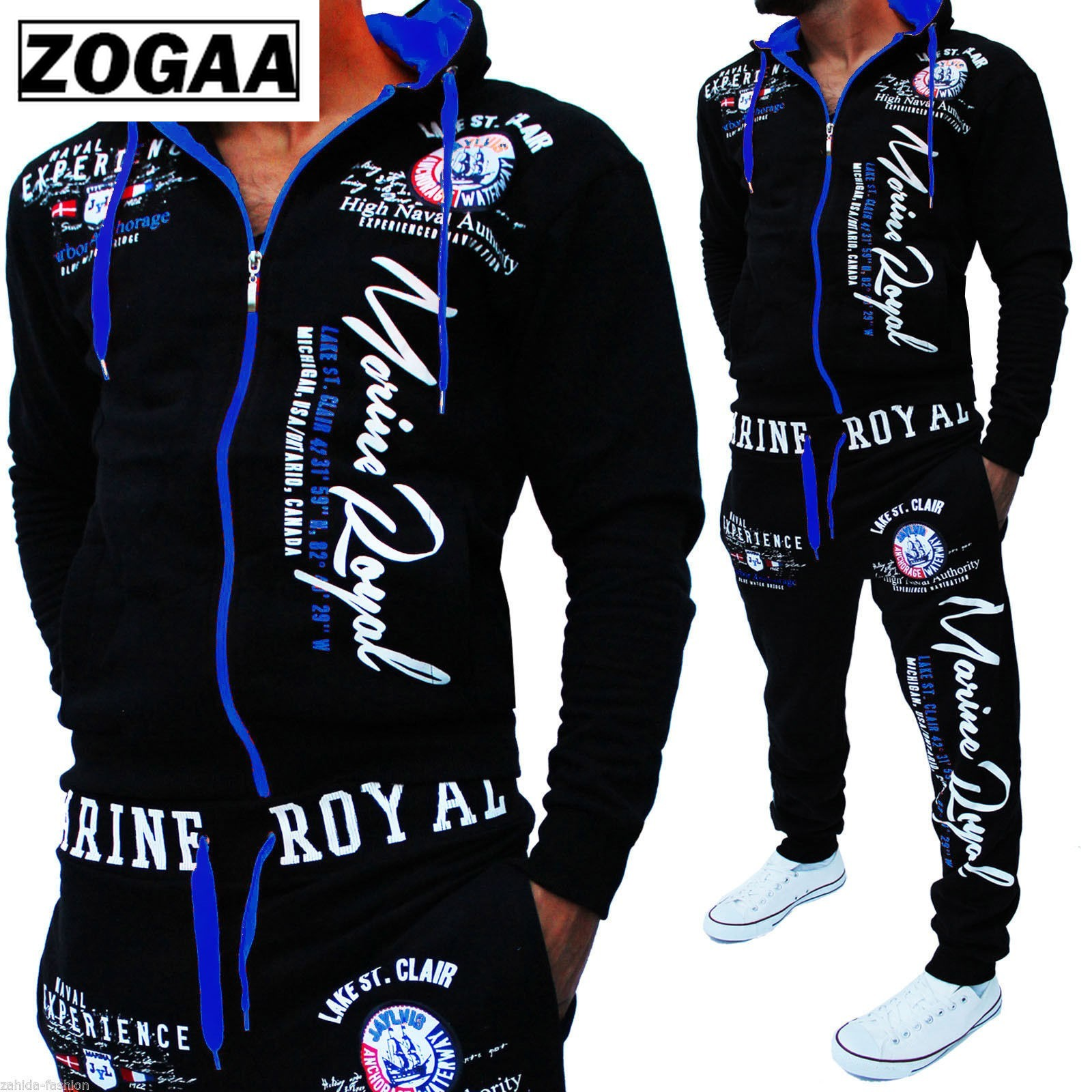 ZOGAAnew 8color men 39 s fashion two piece men 39 s casual sportswear hooded sweatshirt and pants suit letter printed sportswear s 3xl in Men 39 s Sets from Men 39 s Clothing