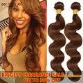 4 Pcs Onda Do Corpo Brasileiro Do Cabelo Virgem Luz/Dark Brown Onda Do Corpo feixes Molhadas E Onduladas Curly WeaveHuman Cabelo Ali Moda Barato cabelo