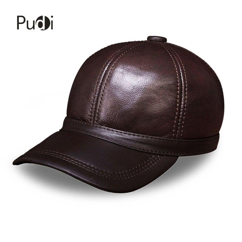 HL097 pravá kožená pánská čepice zbrusu nová baseballová čepice módní pánská pravá kožená čepice / čepice se 3 barvami