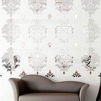 Элегантные декоративные Европейский цветок 3D отражательное зеркало на стене Стикеры диван стены Гостиная Украшения в спальню украшения ко...