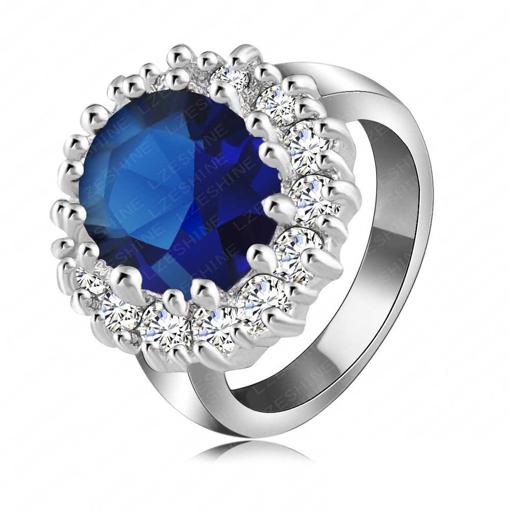 fashion s platinum plated ring with austrian