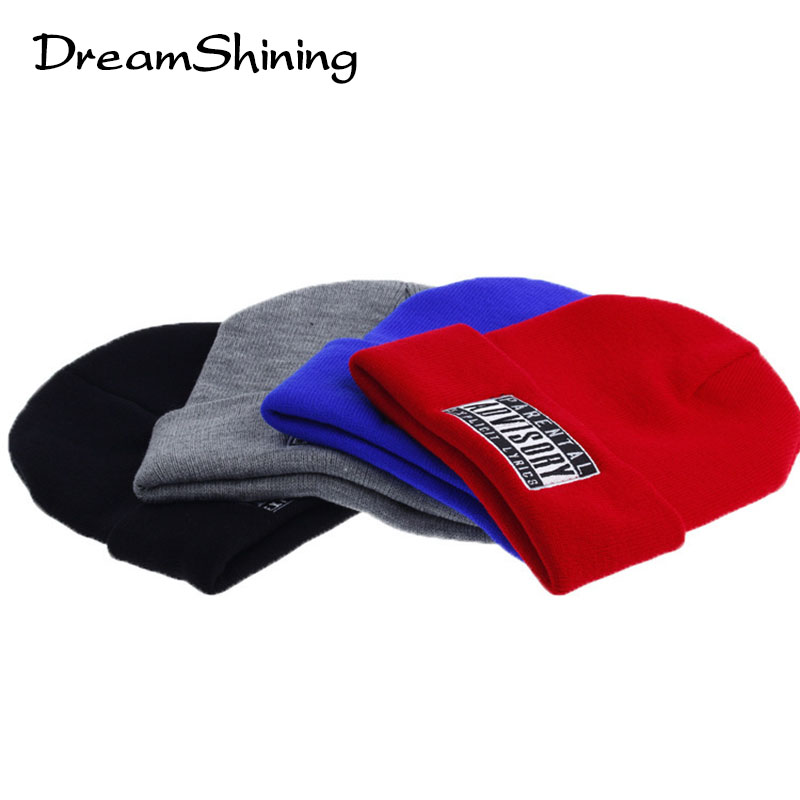 2015 New Skullies Beanies Wool Knitted Hats For Women Winter Cap Men Sport Hat  Hot Letter Hat WithADVISORY knitted skullies cap the new winter all match thickened wool hat knitted cap children cap mz081