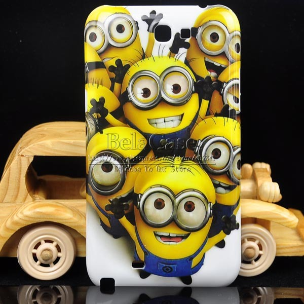 Despicable Me Minions Design Cartoon Cute Plastic Hard Case For Samsung Galaxy Note 2 N7100  Back Cover Protective Shell