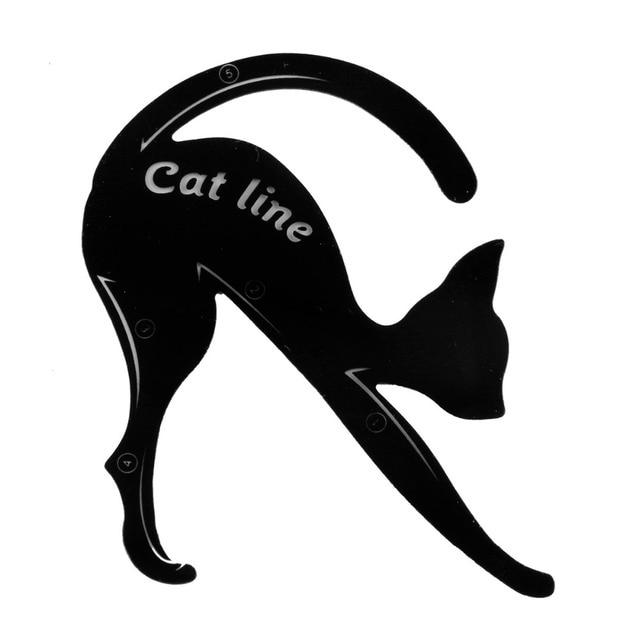 Women's Fashion 2Pcs Cat Line Stencils Pro Eye Makeup Tool Eyeliner Stencils Template Shaper Model Eyebrows Eyeshadow Wholesale 5