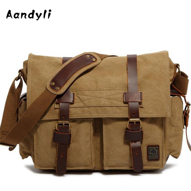 Men Shoulder Bag Leather Men Crossbody Bag Canvas Messenger Bags Large Casual Travel Bags canvas leather crossbody bag men briefcase military army vintage messenger bags shoulder bag casual travel bags