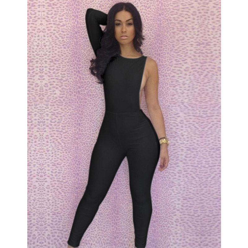 2017 Club Women One Piece Outfits Jumpsuits Long Sleeve Bodycon Backless Long Pants Sexy Plus Size Rompers Playsuit M-XL