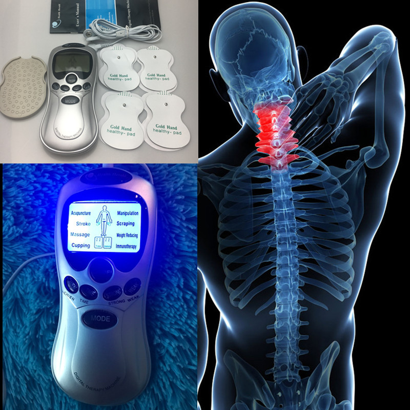 4 Electrode Health Care Tens Acupuncture Electric Therapy Massageador Machine Pulse Body Slimming Sculptor Massager Apparatus массажер massageador 4