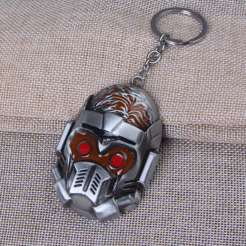Hot Sale Fashion film Jewelry metal keychain guardians of the galaxy Mask keychains for Man