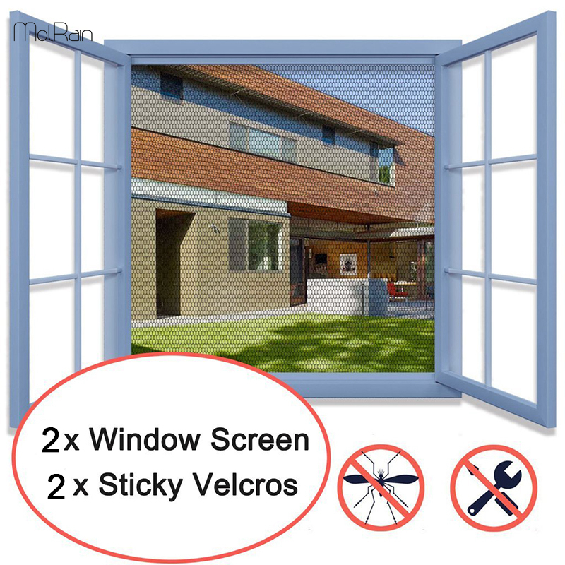 US $3 98 30% OFF|2pcs Easy to Installation Anti Mosquito Net for Kitchen  DIY Mesh Mosquito Net Window Mesh Screen Protector Insect Fly Mosquito-in