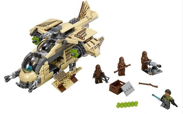 569 unids 10377 STAR WARS Gunship Wookie Chewbacca Figuras niños Educativos Bloques de Construcción Ladrillos Juguetes Compatible con Lepin