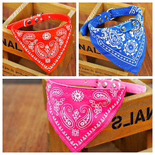 New Arrival 1pcs Pet Dog Cat Puppies Printed Soft Collars Scarf Adjustable Neckerchief Necklace Triangle