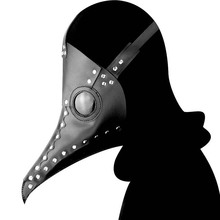Cosplay Dr. Beulenpest New Steampunk Style Plague Doctor Mask Black Color Birds Beak Mask Halloween Art Carnaval Cosplay Props цена и фото