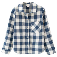 Black And White Plaid Shirt Girl Fall 2017 New Girl Child Korean Long Sleeved Single Breasted