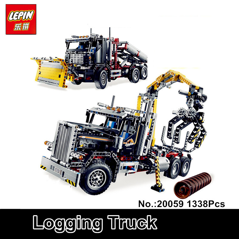 In-Stock Lepin 20059 1338Pcs  Mechanical Serie The Logging Truck Set Children Educational Building Blocks Bricks Toys Model 9397 in stock lepin 23015 485pcs science and technology education toys educational building blocks set classic pegasus toys gifts