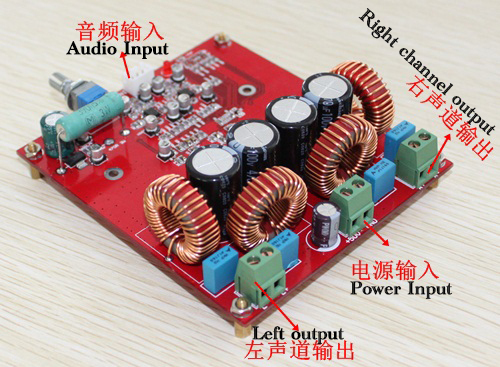 TAS5630 class-D amplifier board (300W +300 W),Using original TAS5630, OPA1632DR Free Shipping tas5630 amplifier class d board high power finished boards mono 600w for subwoofer or full range diy free shipping