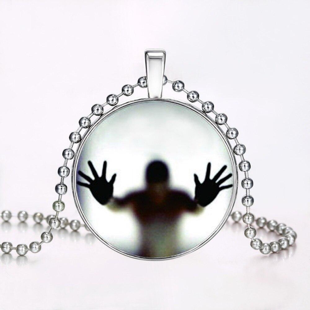 Светящиеся тени кулон Цепочки и ожерелья стимпанк огонь светятся в темноте ожерелья Нержавеющая сталь цепи ожерелье ювелирные изделия