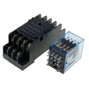 Image 4 - 5 יחידות ממסר MY4NJ 220/240 v AC קטן ממסר 5A 14PIN סליל DPDT עם שקע בסיס