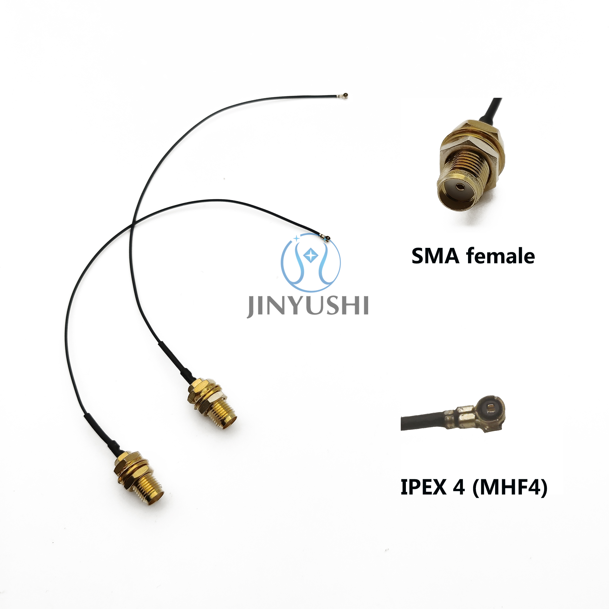 10cm/15cm/20cm/30cm IPEX4 MHF4 To SMA Extension Cord RP-SMA Cable Pigtail Connector Antenna Cable For EM7565 EM7430 EM06-E Etc
