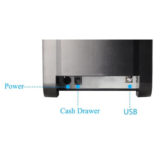 Xprinter 80mm Thermal Label Printer 20mm-80mm Barcode Sticker Printer Bluetooth Printer 365B 370B 330B LAN Bluetooth USB 4