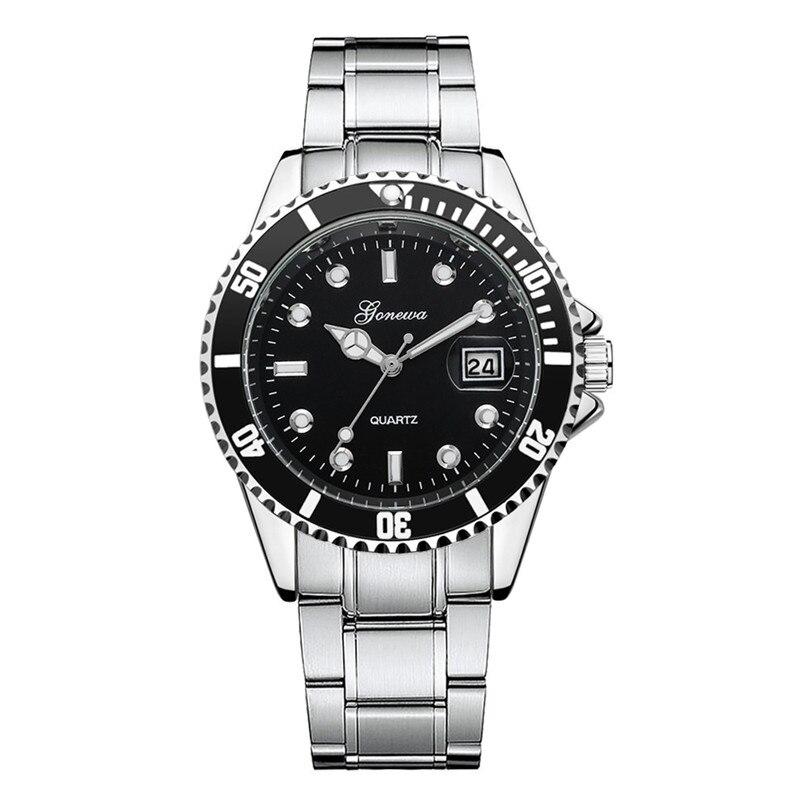 купить Stainless Steel Clock Men Fashion Watch Noble Gentlemanly Military Date Sport Vintage Quartz Wrist Watch Temperament Hot Sale C4 по цене 367.87 рублей