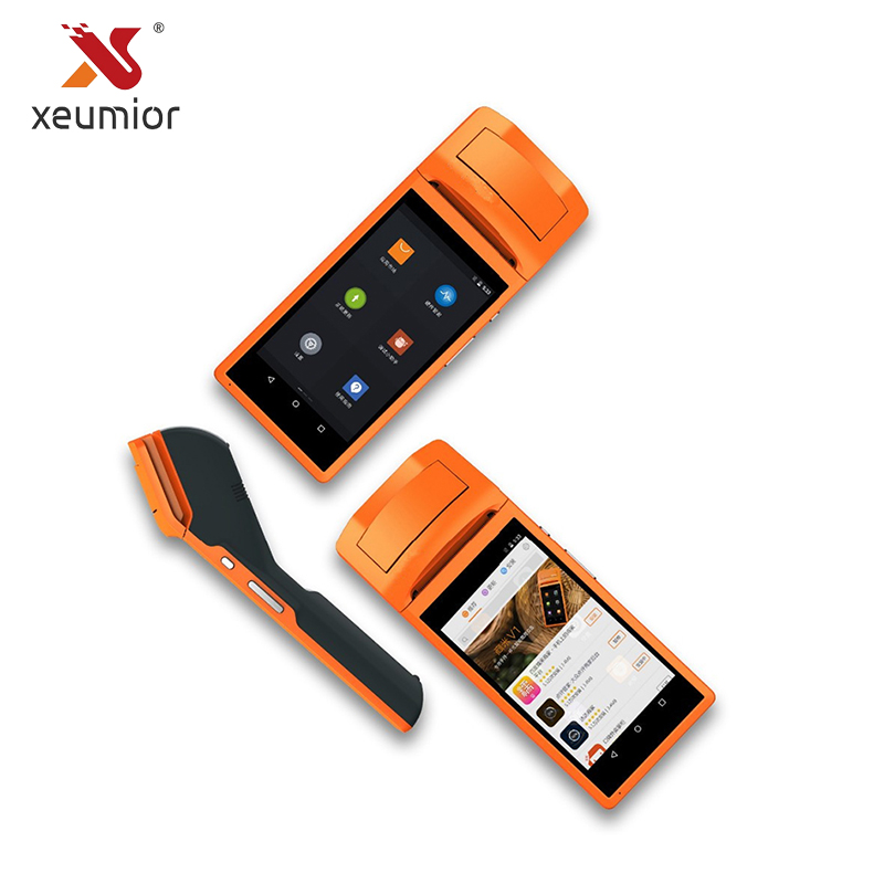 Sunmi V1S Android Data Collector Handheld Wireless Bluetooth Printer POS terminal PDA QR Barcode Reader with Receipt Printer wood