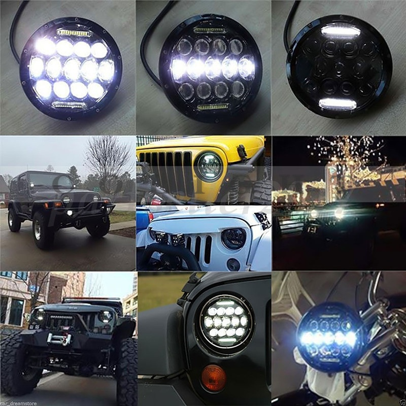 CO LIGHT 75W 7 39 39 Led Headlight H4 H13 High Low Beam Round Cars Running Lights 12V for Jeep Lada urban Niva 4x4 Motorcycle 24V in Car Light Assembly from Automobiles amp Motorcycles