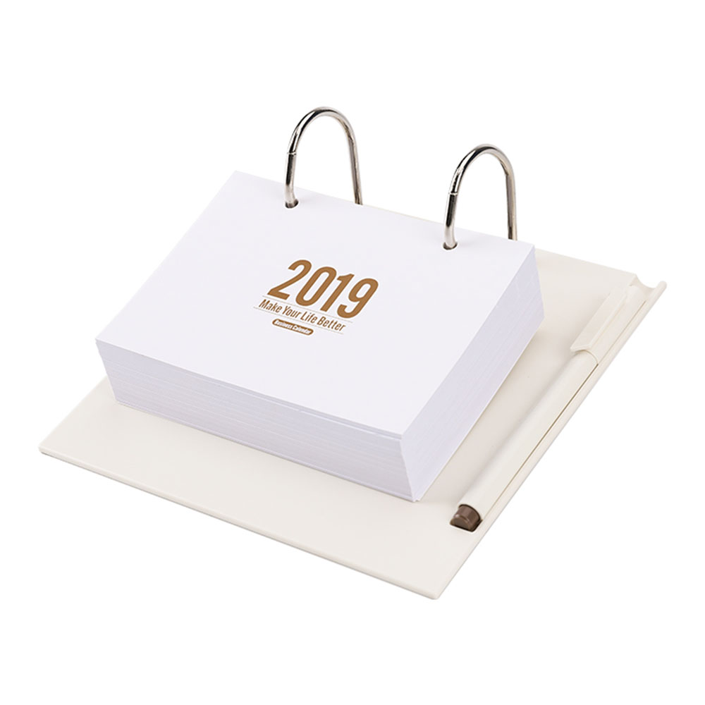 2019 bureau d'affaires bloc-notes bureau Table calendrier peut remplacer les Pages intérieures fournitures de bureau