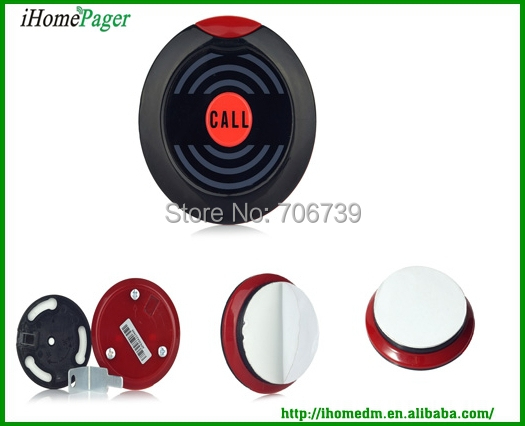 Modern design CE Certificated Wireless calling device hot sell Hotel Coffee Bar Restaurant paging system table bell