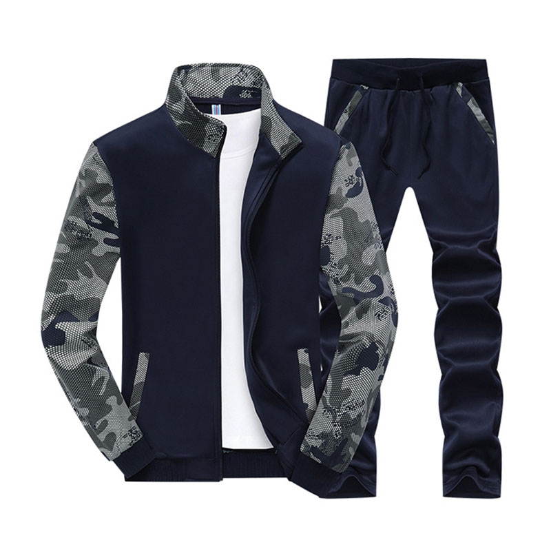 Designer 5XL 6XL Men's Sweatershirts Suit Spring Autumn New Fashion Camouflage Plus Size Casual Suit Men Sportwear BFY808
