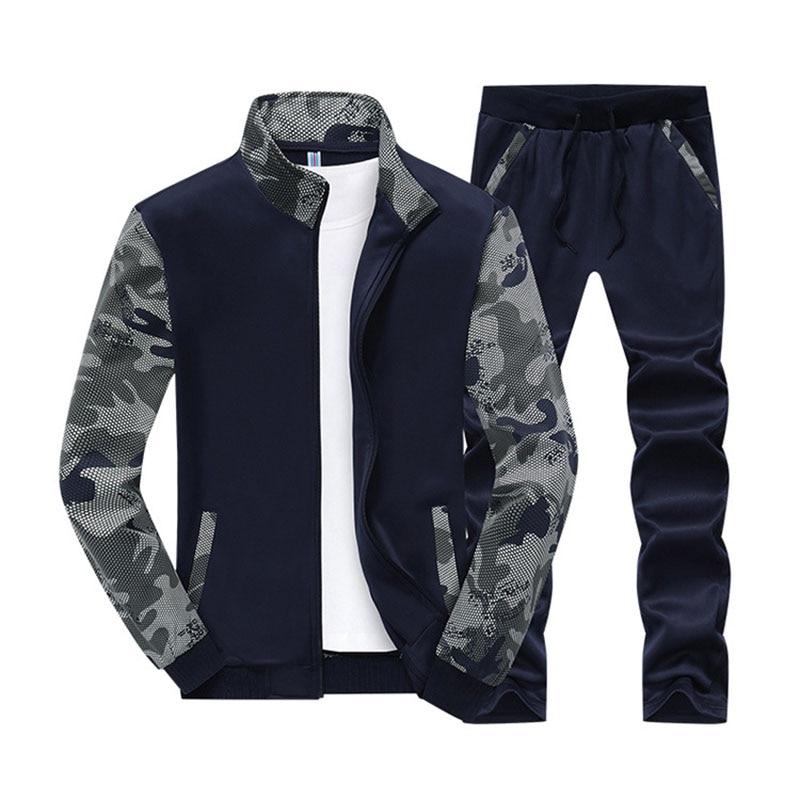Designer 5XL 6XL Men's Sweatershirts Suit Spring Autumn New Fashion Camouflage Plus Size Casual Suit Men Sportwear BFY808