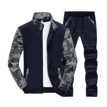 Diseñador 5XL 6XL hombres sudadera traje primavera otoño nueva moda camuflaje talla grande traje Casual Hombre Ropa Deportiva BFY808