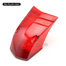Per YAMAHA XT660R XT660 XT660X 2004-2014 Accessori Moto Posteriore Fanale Posteriore della Coda Lampada In Vetro Lens Cover Rosso
