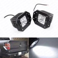 2x 18W Car Styling Driving LED Work Light Bar Headlight Off Road Lamp Flush Mount External