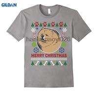 GILDAN Chow Chow Cane di Razza Proprietari Ugly Natale T-Shirt