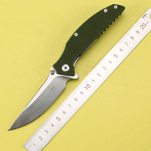 2016 New tactical folding knife hunting camping pocket knife 8CR13MoV G10 handle survival utility knives EDC hand tools