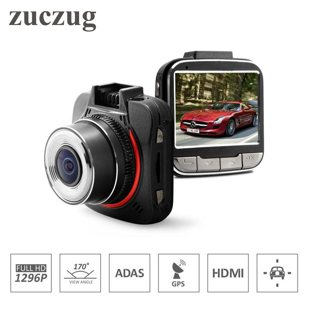 ZUCZUG GPS Car DVR Mini Car Camera Ambarella A7LA50 Full HD 1296P 170 Degrees Wide Angle with G-Sensor ADAS GPS Dash Cam цены онлайн