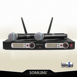 New High Quality Professional UHF Handheld Wireless Microphone professional lavalier clip microphone headset