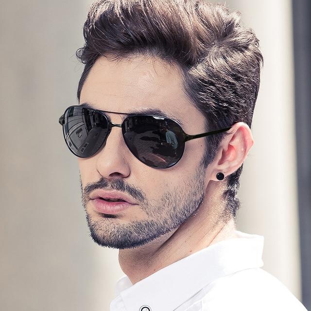 The new Polarized Sunglasses men driving Sunglasses retro reflective Sunglasses tide color film mirror driver
